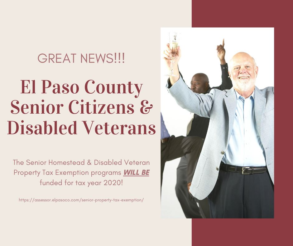 The Senior Homestead & Disabled Veteran Property Tax Exemptions have been Funded for 2020 Payable in 2021!