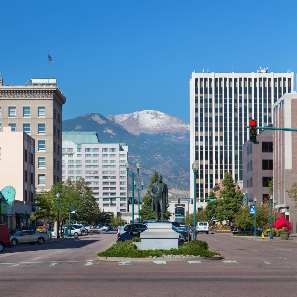 Downtown Colorado Springs Commercial Buildings Image
