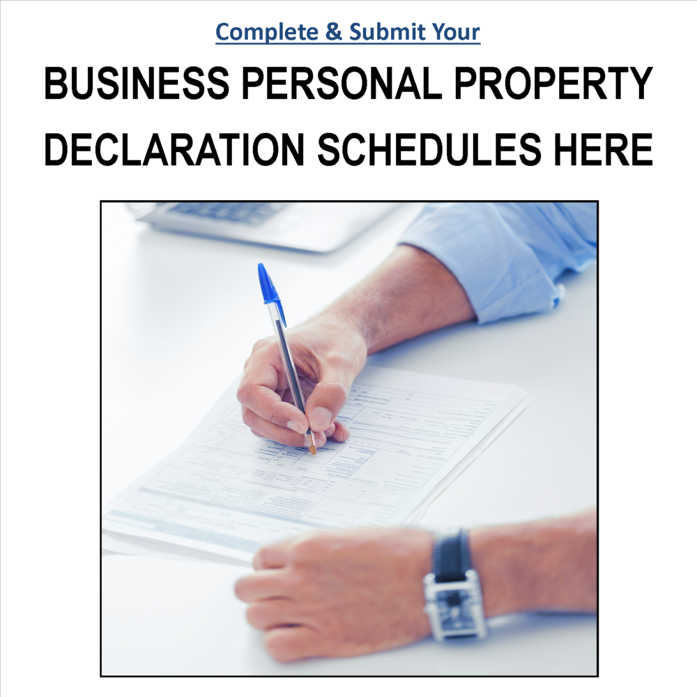 Submit Personal Property Declaration Schedules